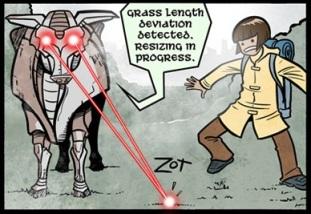 Gunnerkrigg Laser Cows