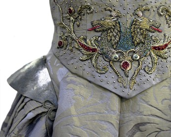 Sansa S3 Wedding Dress Closeup